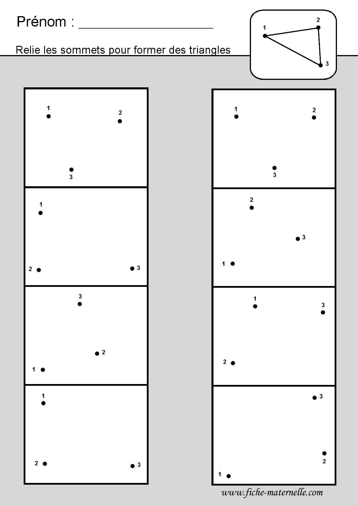 Site Maternelle Et Cp : Les Figures Géométriques destiné Fiche Géométrie Cp