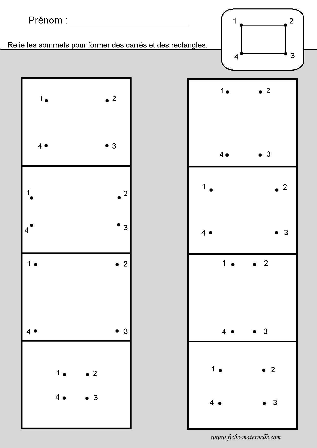 Site Maternelle Et Cp : Les Figures Géométriques | Géométrie tout Fiche Géométrie Cp