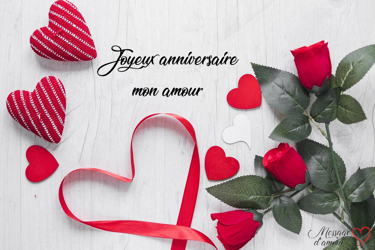 Sms Joyeux Anniversaire Mon Amour - Message D'amour concernant Comment Souhaiter Un Joyeux Anniversaire En Anglais