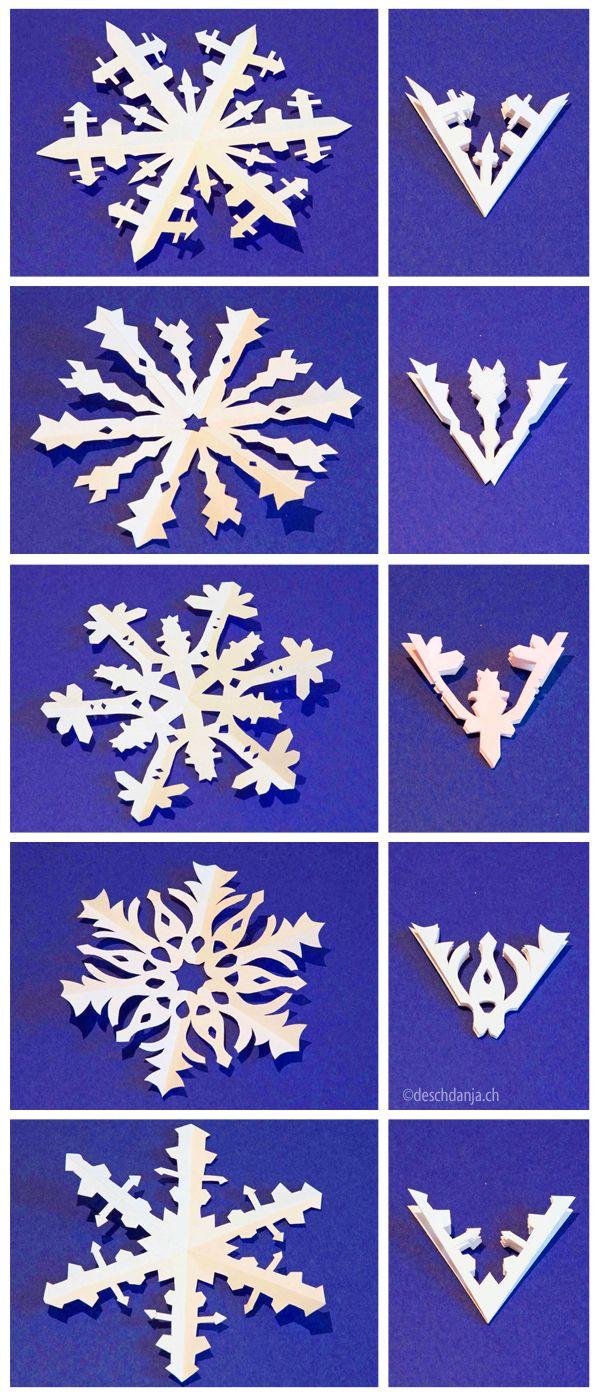 Snowflakes, .deschdanja.ch | Flocons De Neige En Papier serapportantà Origami Bonhomme De Neige