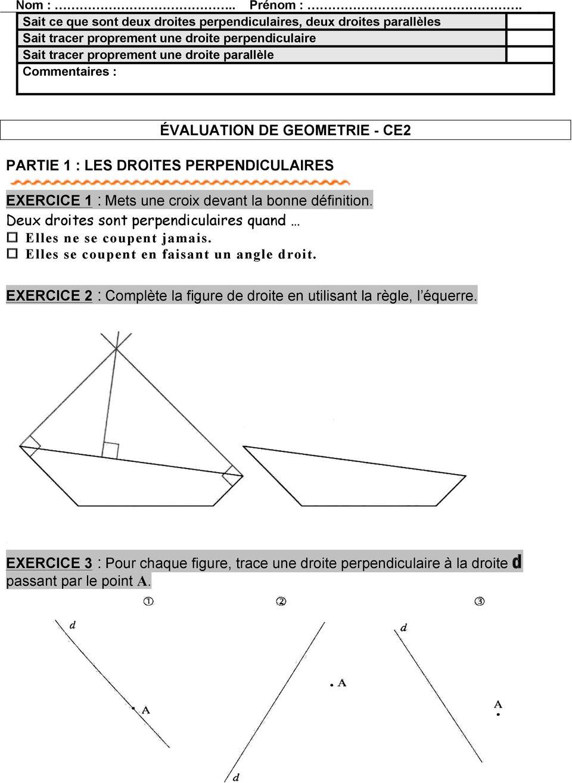 Sommaire Évaluations Géométrie Ce2 - Pdf Téléchargement Gratuit encequiconcerne Figures Géométriques Ce1