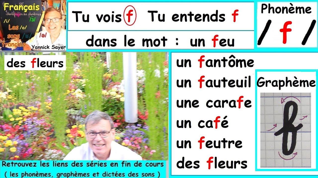 Son Du Phonème /f/ Et Écriture Du Graphème (F) : Français Cp Ce1 # 21 serapportantà Le Son F Cp