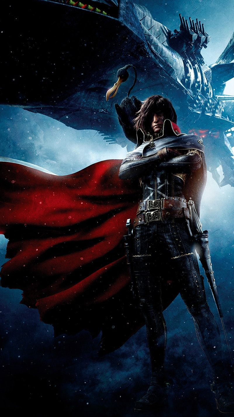 Space Pirate Captain Harlock (2013) Phone Wallpaper à Photos Goldorak Gratuit