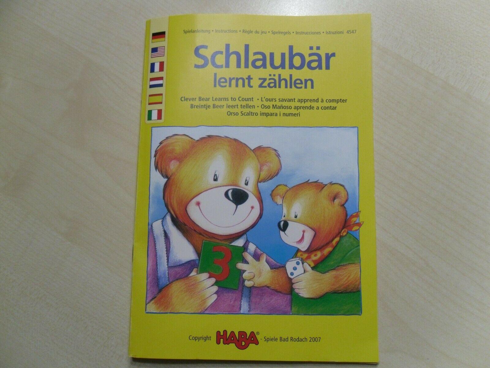Spiel Haba Schlaubär Lernt Zählen 4547 pour Ours Savant