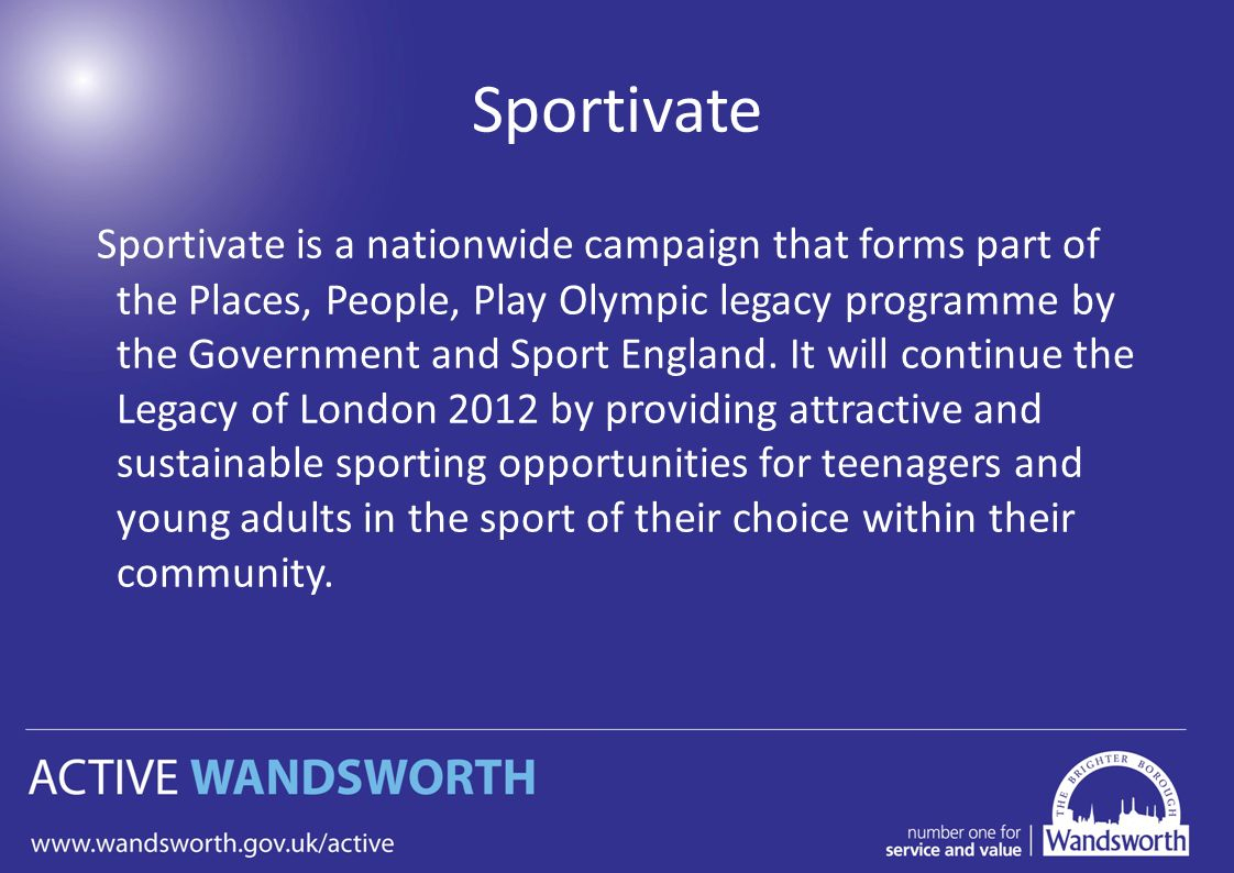 Sportivate Funding For Local Clubs And Organisations To encequiconcerne Bo Programmes 2012