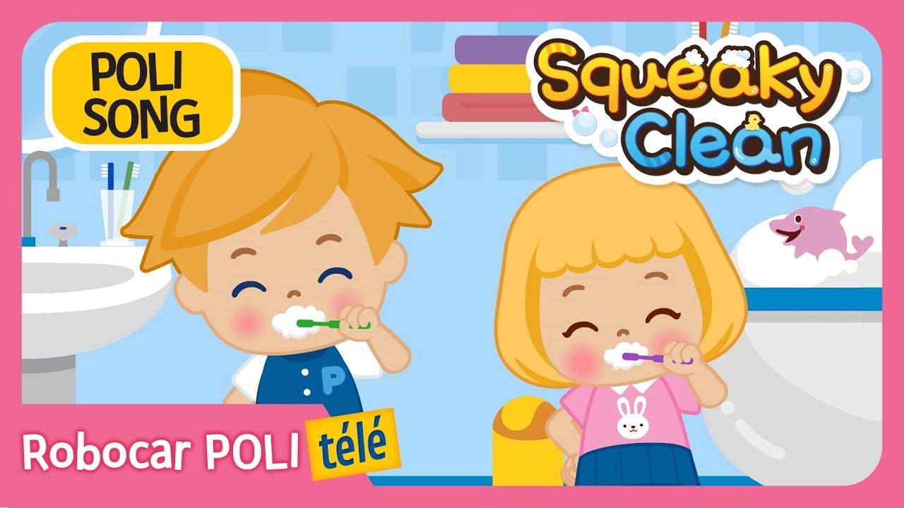 Squeaky Clean | Robocar Poli | Chanson De Bonnes Habitudes | Chant Pour  Enfants à Chanson Robocar Poli