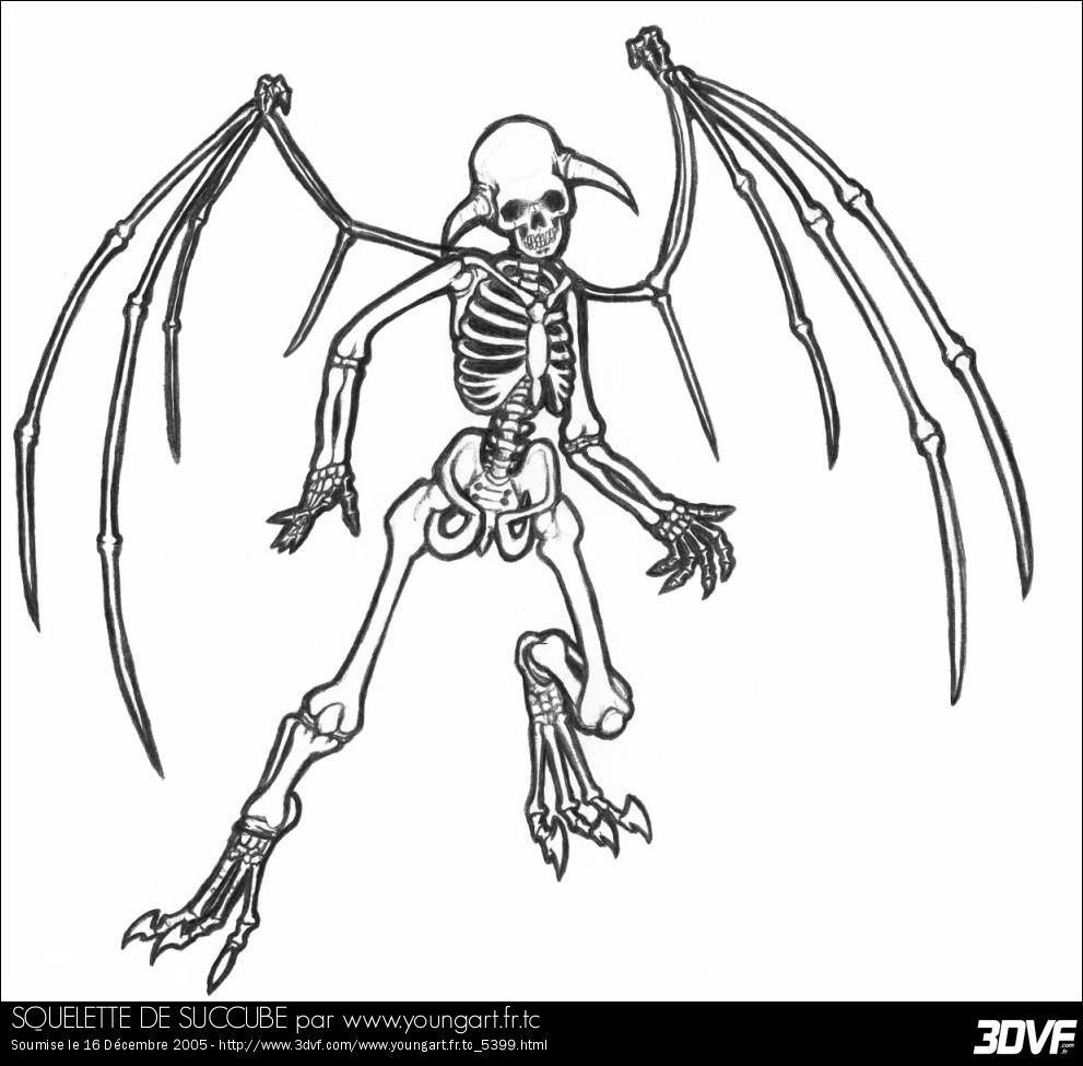 Squelette #18 (Personnages) – Coloriages À Imprimer destiné Squelette A Imprimer