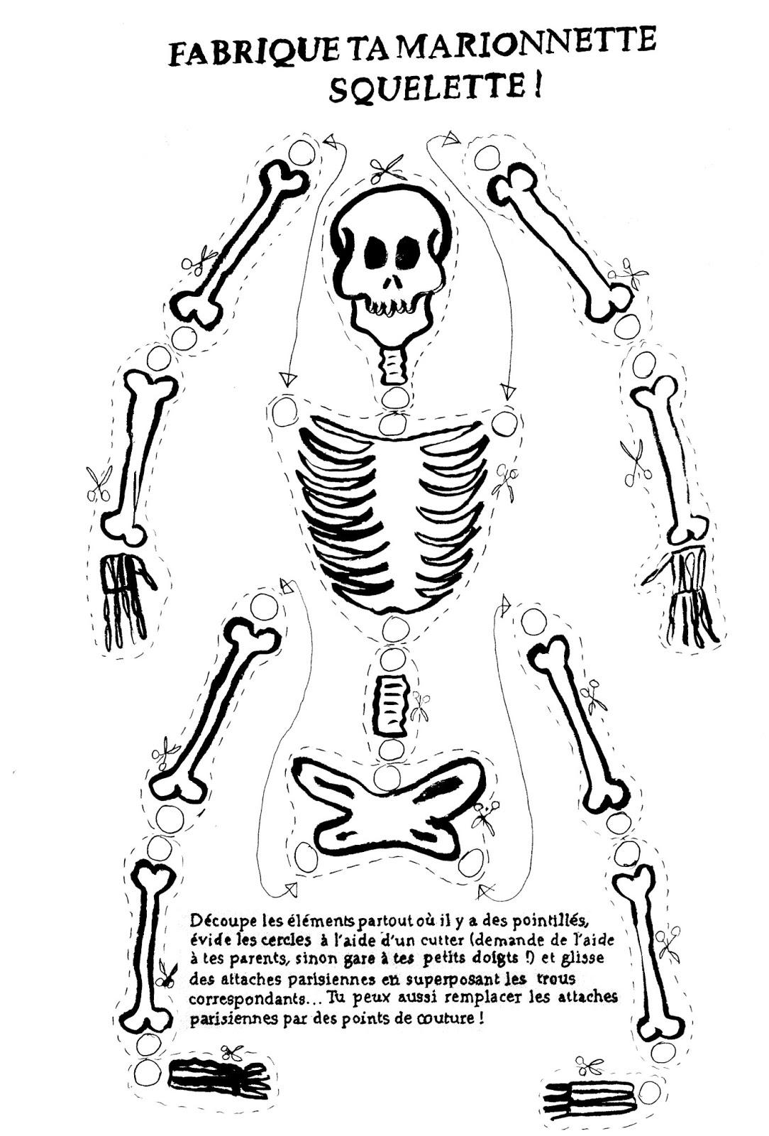 Squelette #30 (Personnages) – Coloriages À Imprimer encequiconcerne Squelette A Imprimer