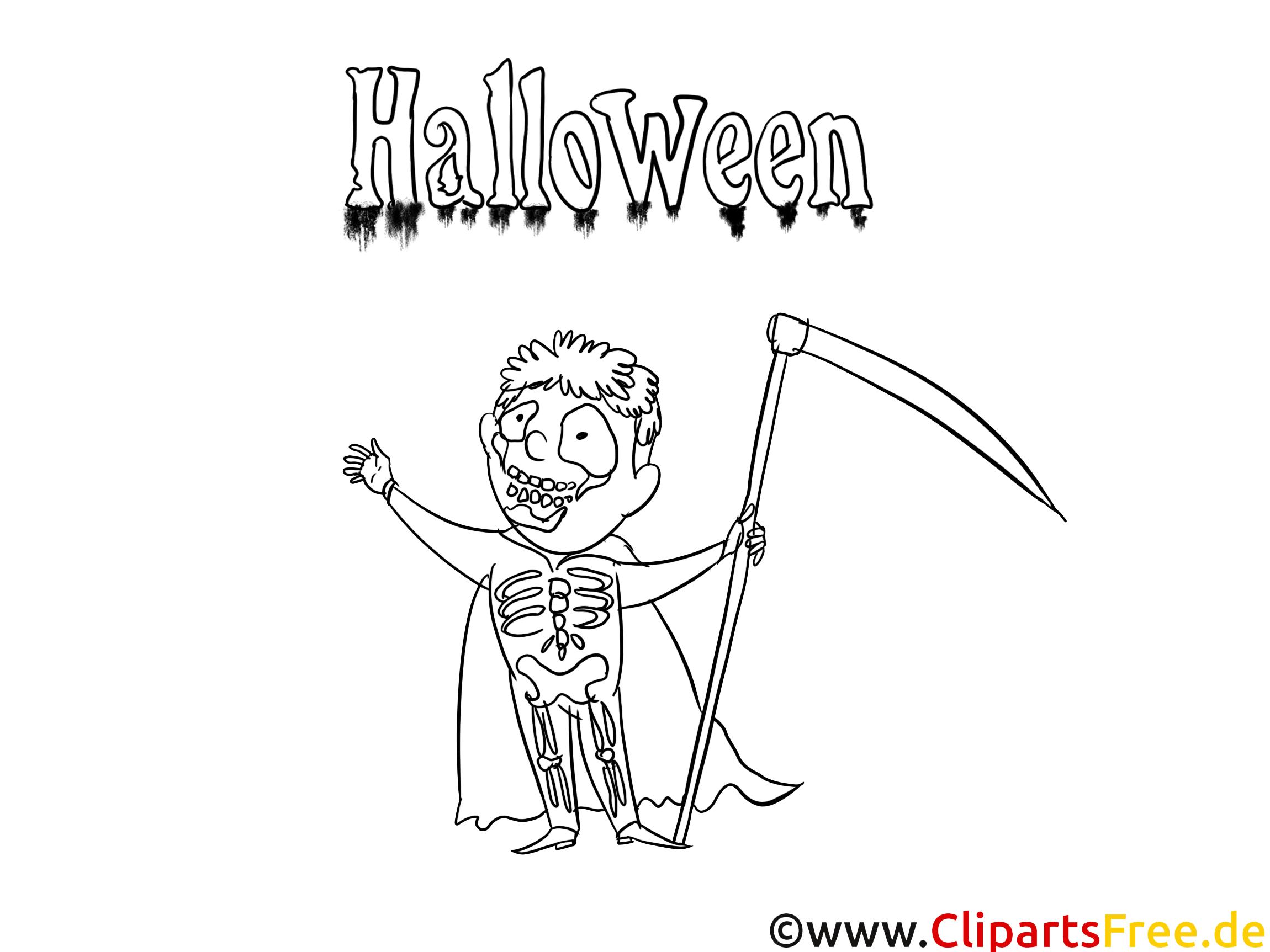 Squelette Clip Arts – Halloween À Imprimer - Halloween destiné Squelette A Imprimer