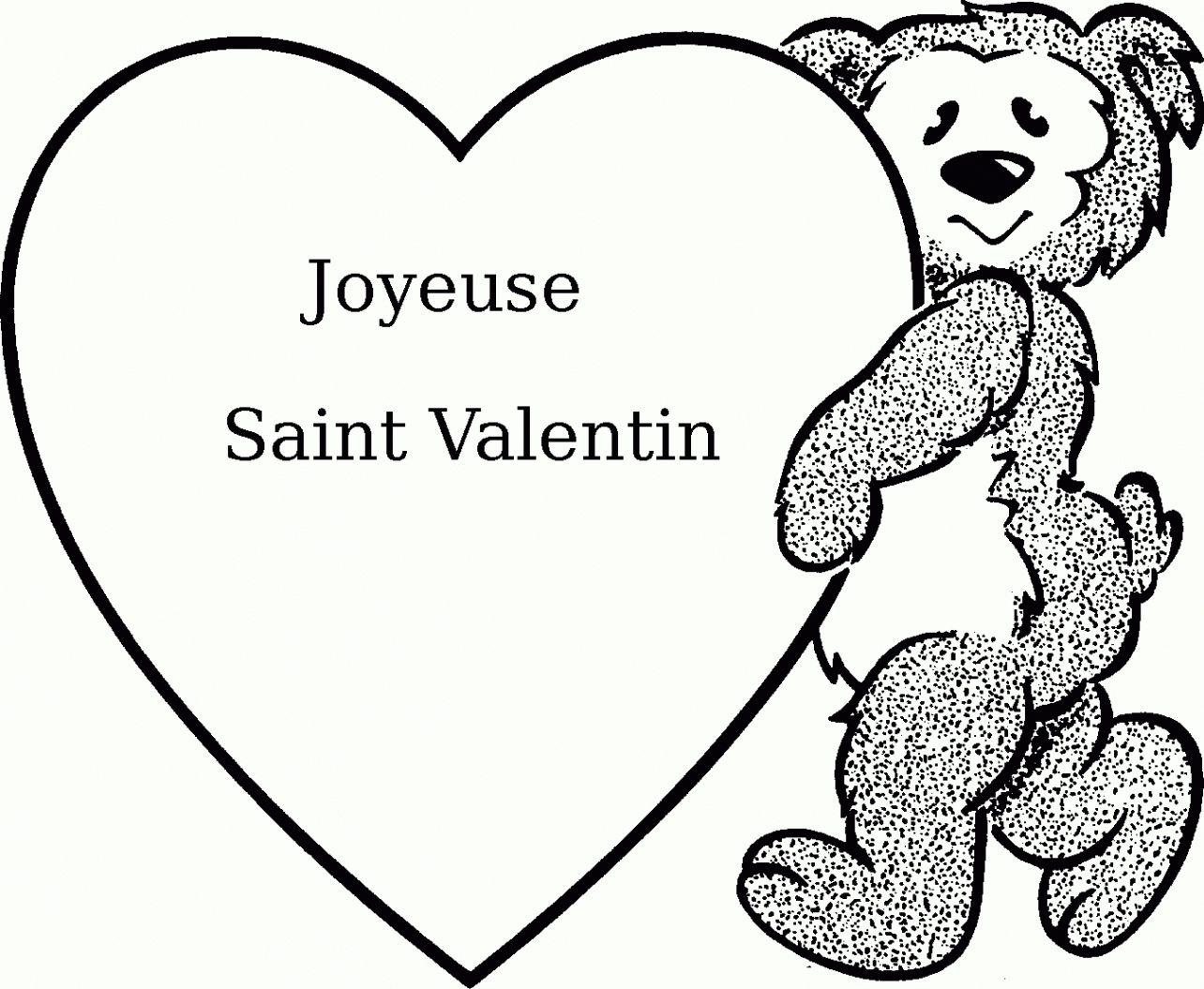 St Valentin A Colorier | Coloriage St Valentin, Joyeuse tout Coloriage De St Valentin