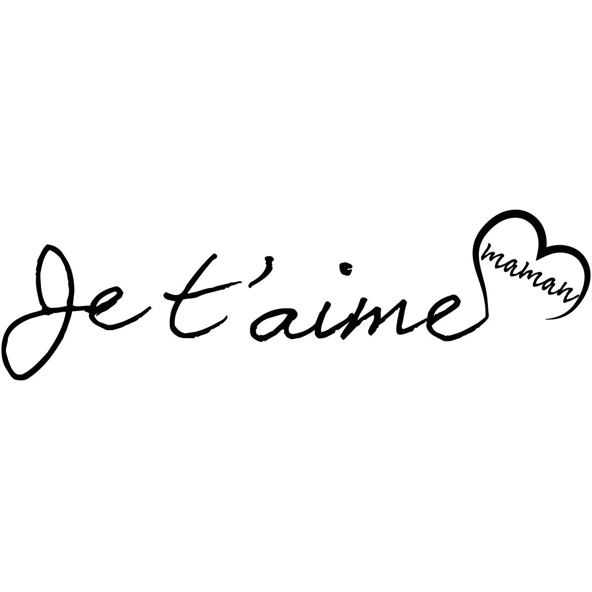 Sticker Citation Je T'Aime Maman destiné Texte Maman Je T Aime