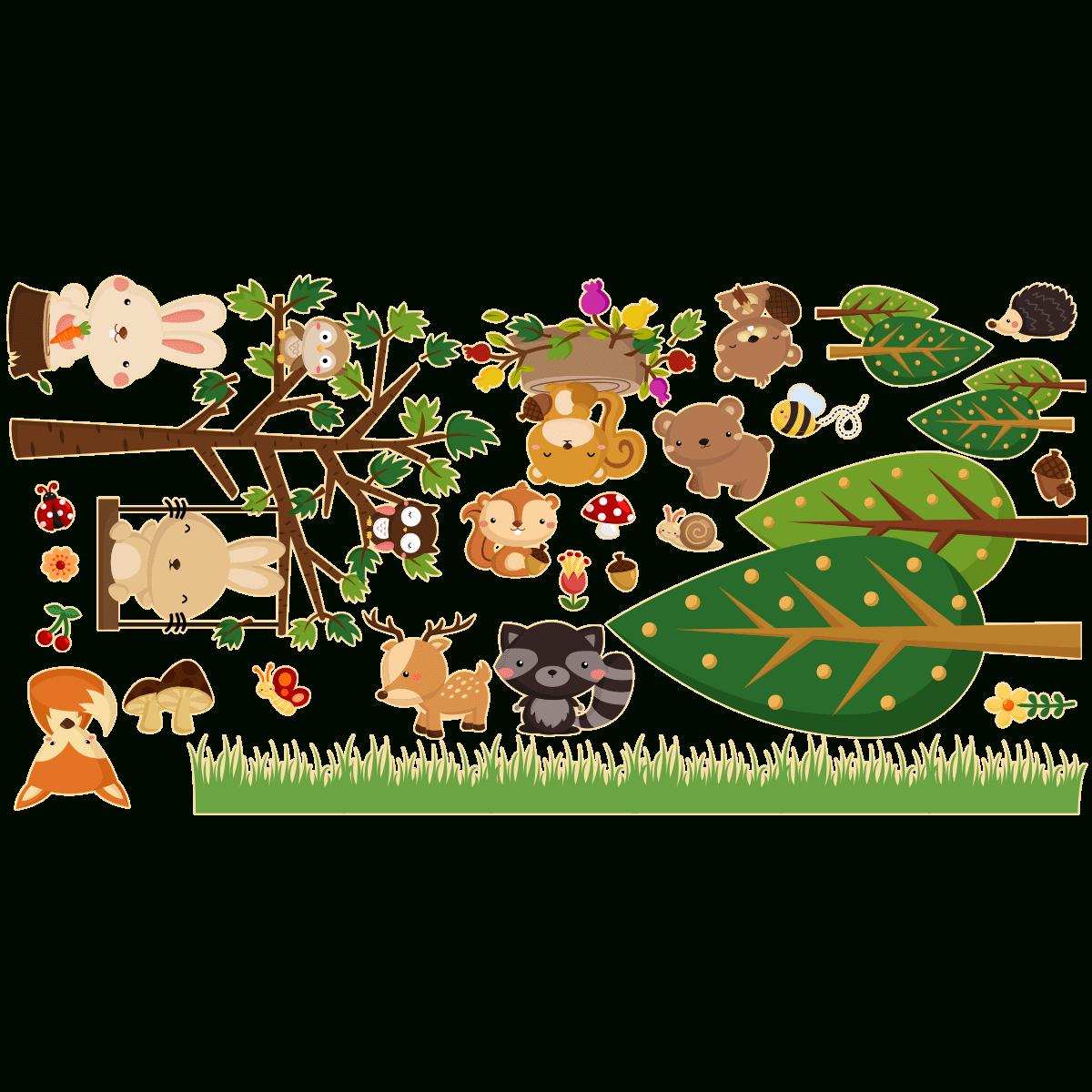 Sticker Les Animaux De La Forêt concernant Image D Animaux De La Foret