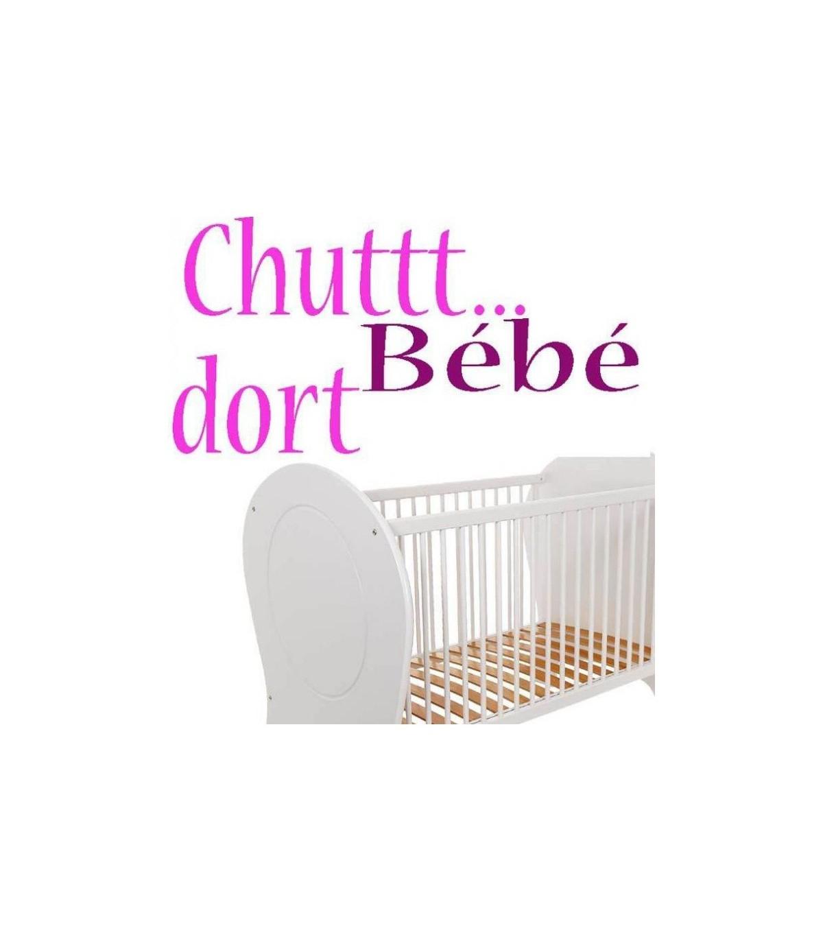 Sticker Pour La Chambre De Bebe : Sticker Bebe Dort, Autocol dedans Image Chut Bébé Dort
