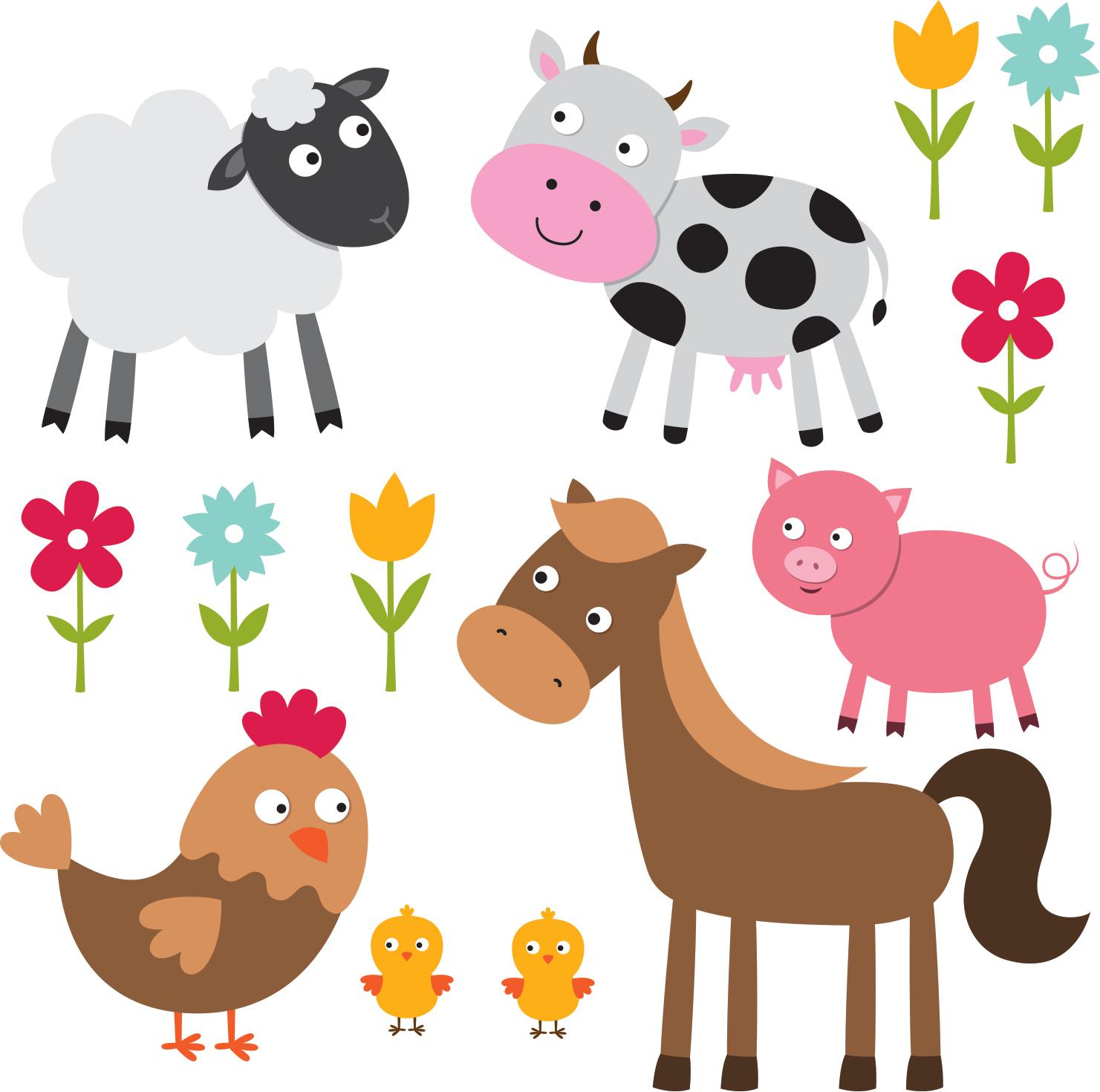 Stickers Adhésifs Animaux De La Ferme Colorée Pour Enfants serapportantà Apprendre Les Animaux Pour Bebe