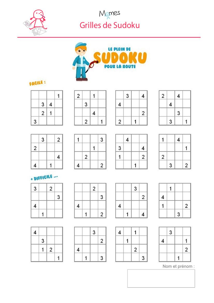 Sudoku Enfant À Imprimer - Momes pour Jeux Facile Pour Petit Gratuit