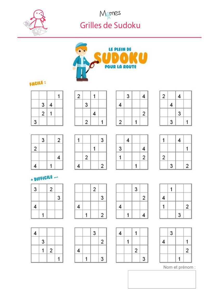 Sudoku Enfant À Imprimer | Sudoku Enfant, Sudoku Et Sudoku À à Sudoku Grande Section