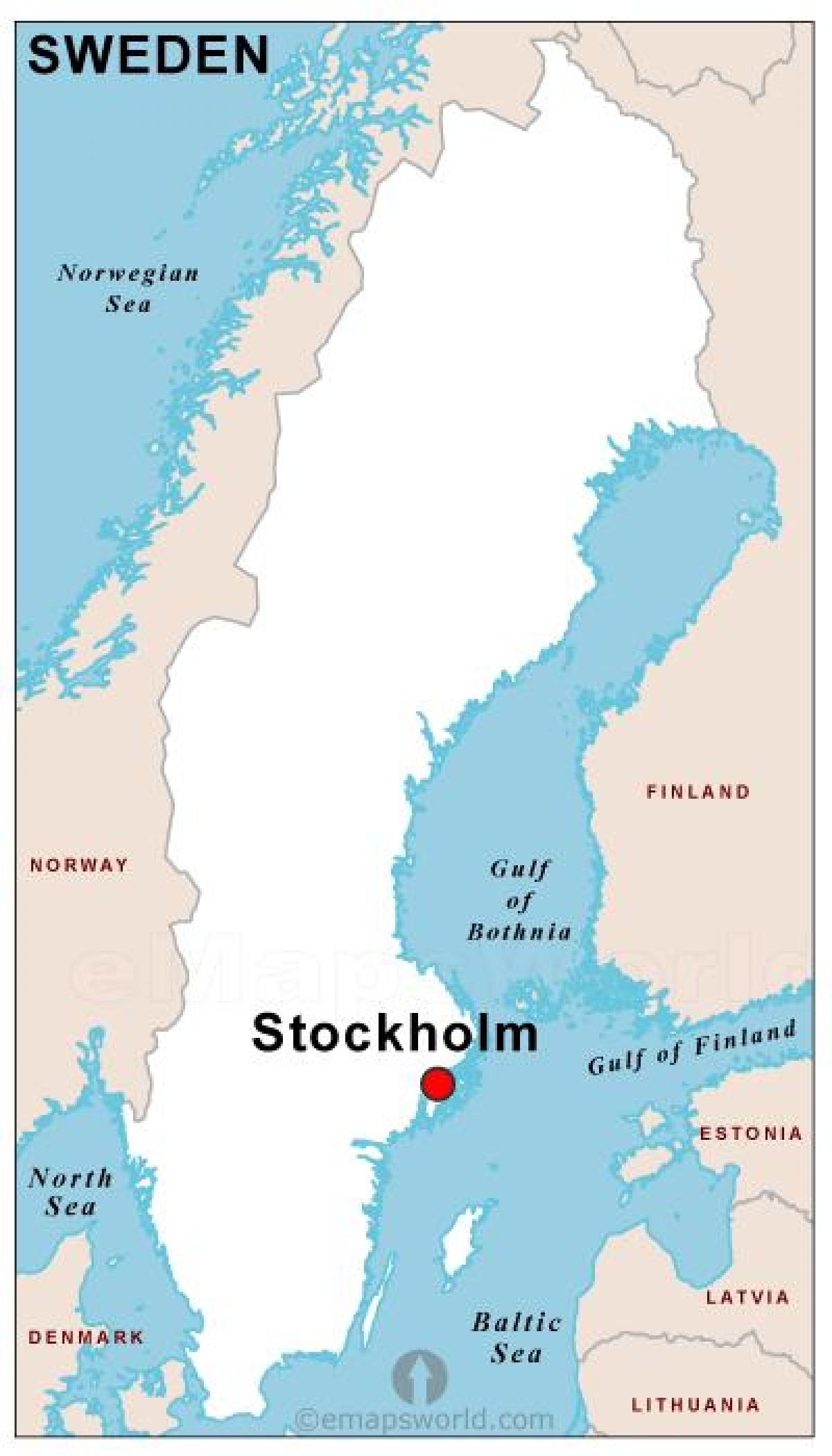 Suède Capital De La Carte - Capitale De La Suède, De La tout Carte Europe Capitale