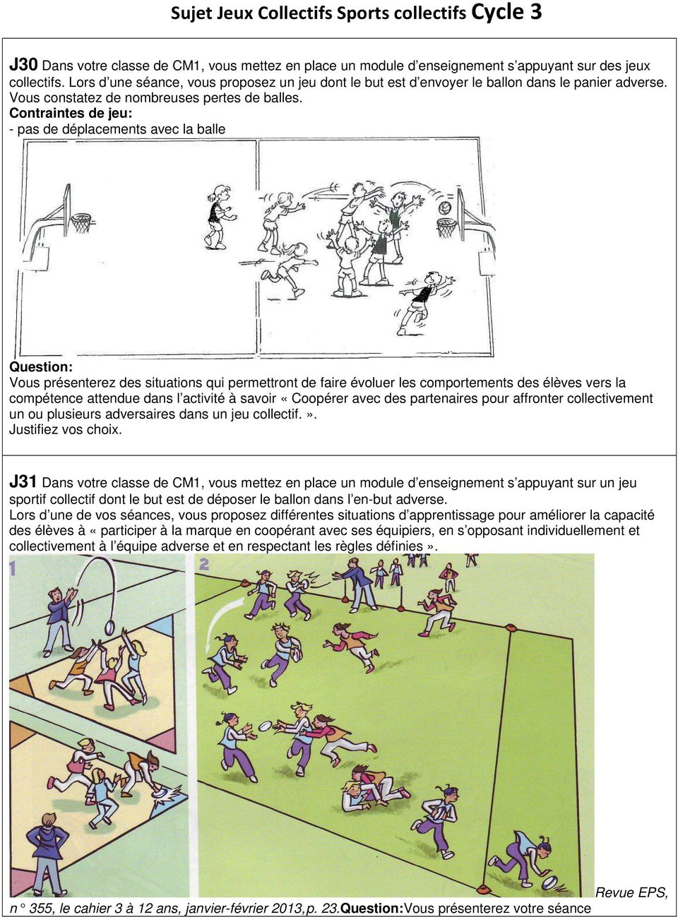 Sujet Jeux Collectifs Sports Collectifs Cycle 1 - Pdf Free tout Jeux Collectifs Cycle 3 Sans Ballon