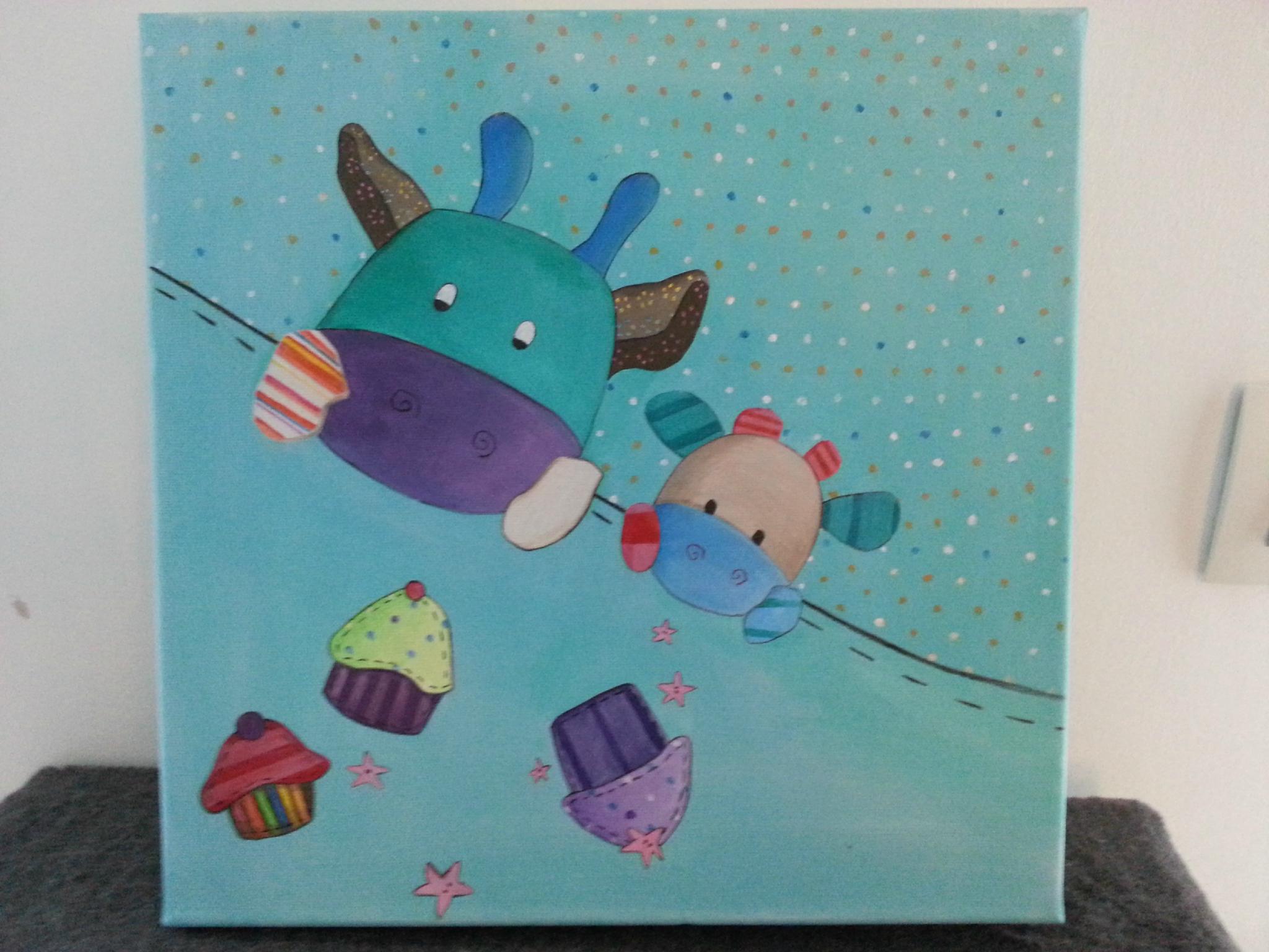 Tableau Chambre Enfant - Artmatt - Créations Pour Petits Et encequiconcerne Tableau De Peinture Pour Enfant