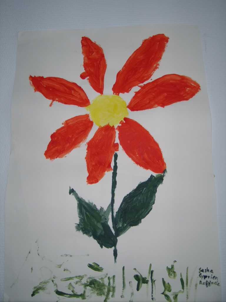 Tableau Fleur Et Papillons - Les Créations De Babette encequiconcerne Tableau De Peinture Pour Enfant