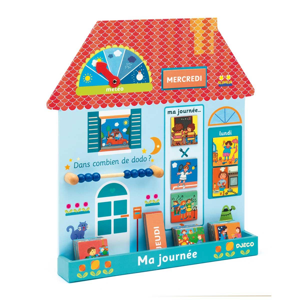 Tableau Magnétique Maison Ma Journée concernant Jeux Pour Enfant De 3 Ans