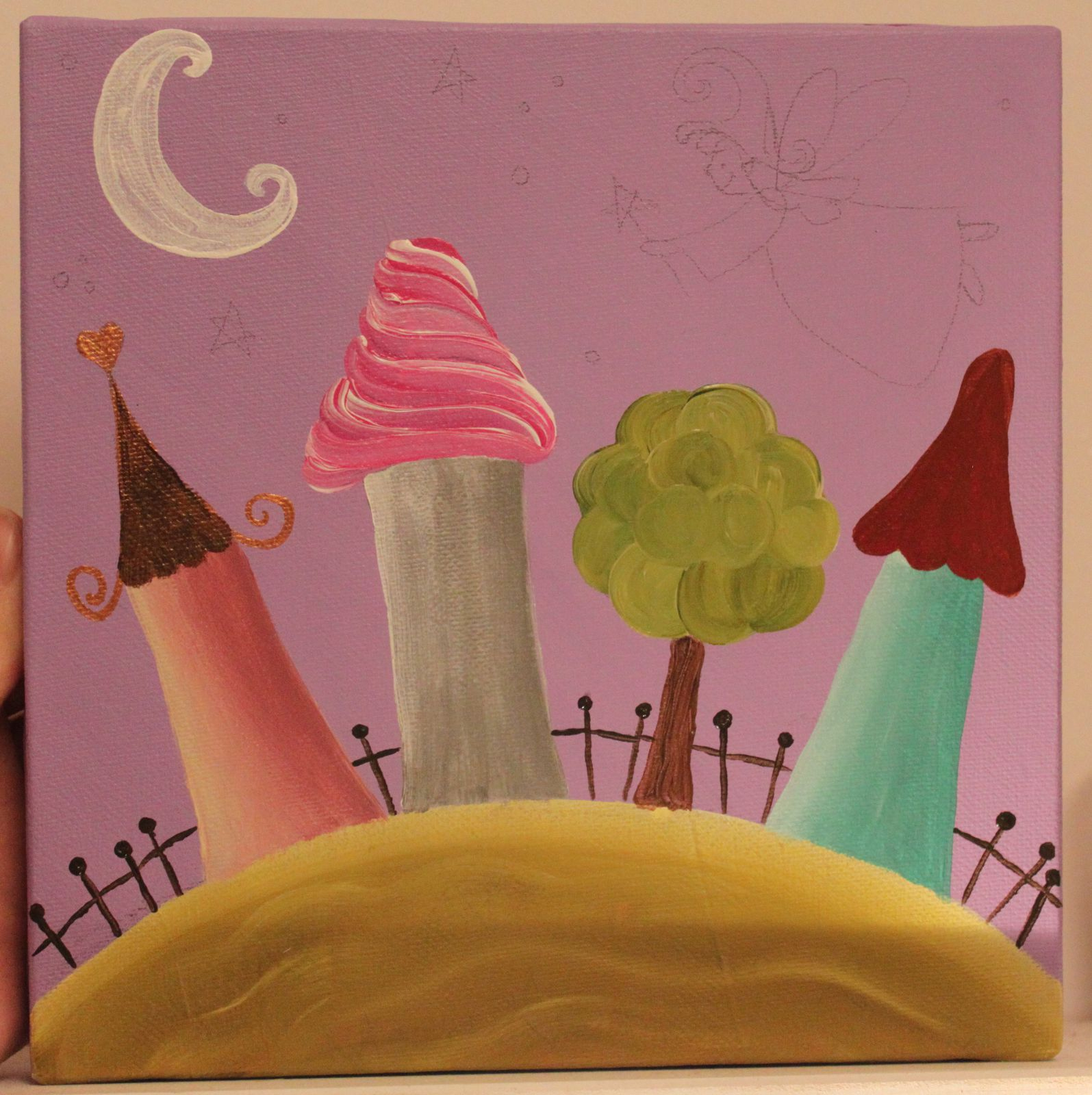 Tableau Peint Pour Chambre D'enfant - Une Petite Créaline intérieur Tableau De Peinture Pour Enfant