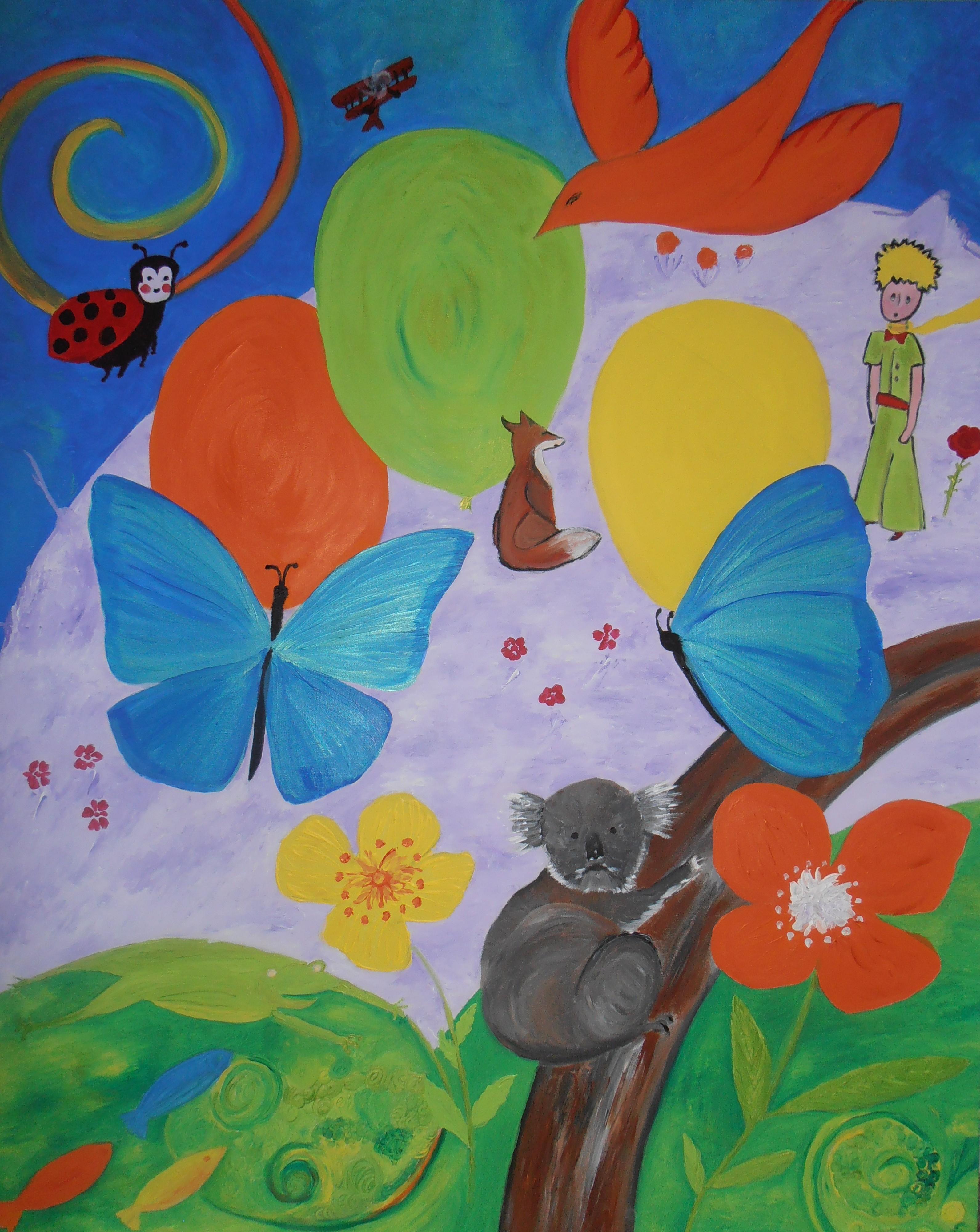 Tableaux Pour Enfants – Le Blog De Peintures D Edith intérieur Tableau De Peinture Pour Enfant