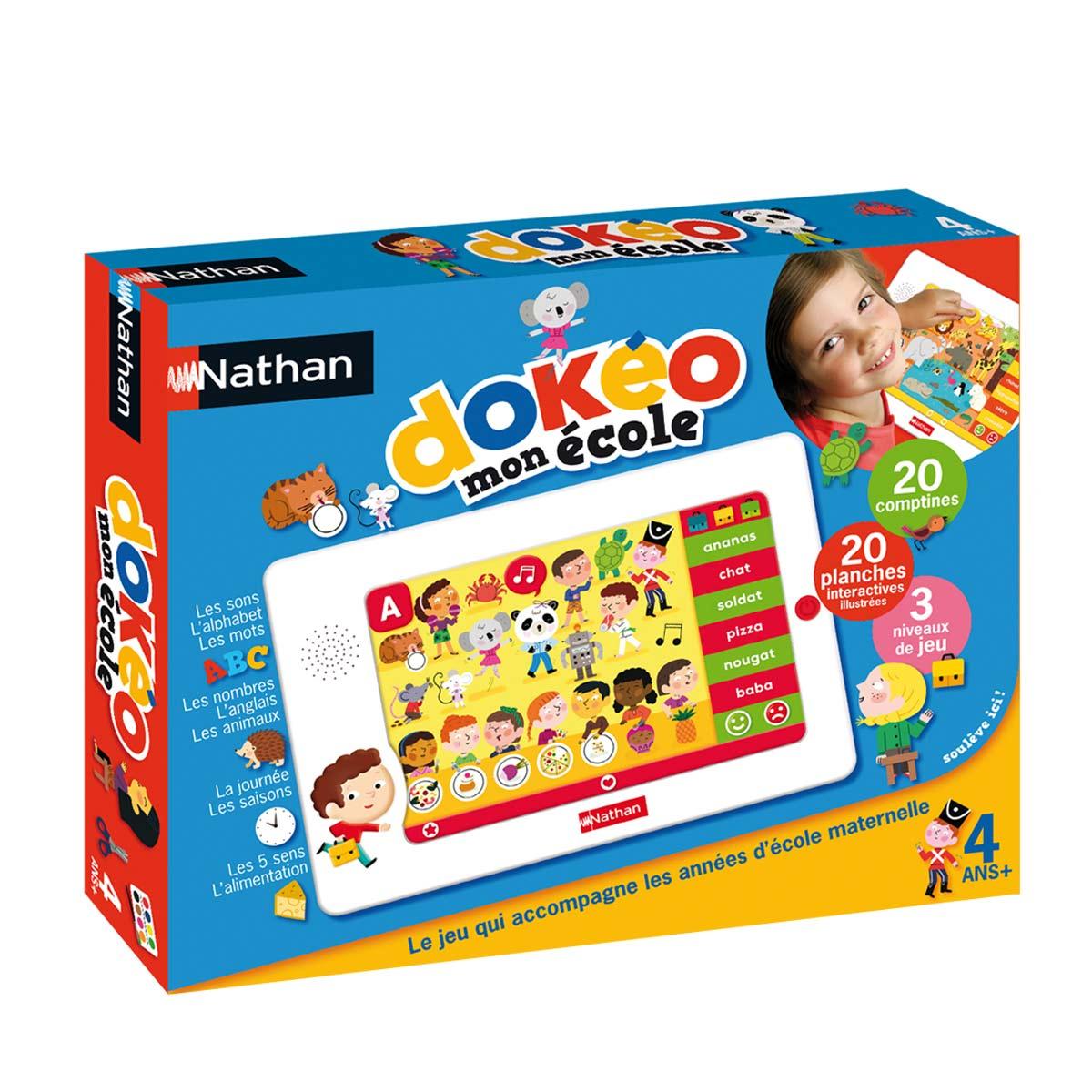 Collection de tablettes Dokéo École, Jeux Educatif 4 An