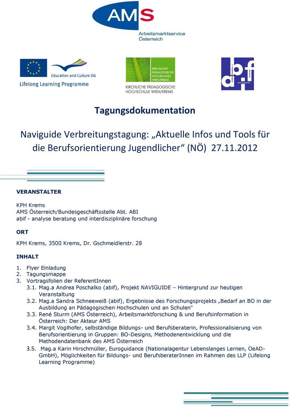 Tagungsdokumentation - Pdf Free Download destiné Bo Programmes 2012