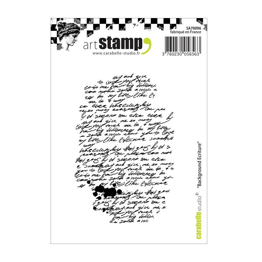Tampon Cling - Background Écriture - A7 dedans Image Écriture