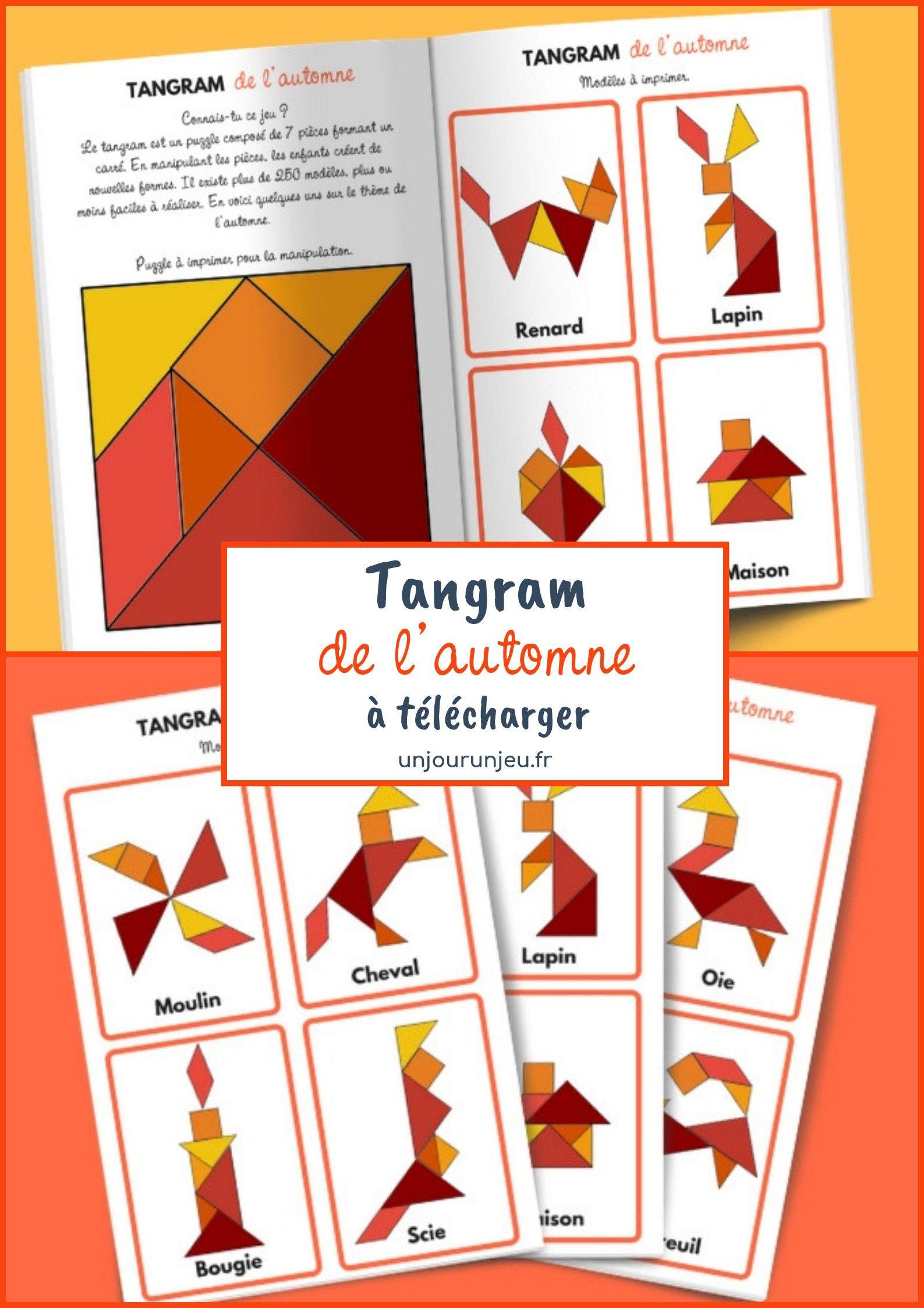 Tangram De L'automne - Modèles À Télécharger Gratuitement destiné Jeux De Concentration À Imprimer