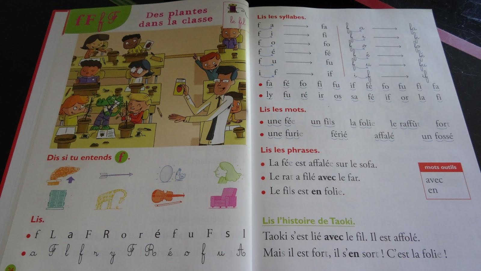 """Taoki : 1Ère Période, Chapitre 3 : L'école, Les Sons """"f"""" Et """"e"""" encequiconcerne Le Son F Cp"""
