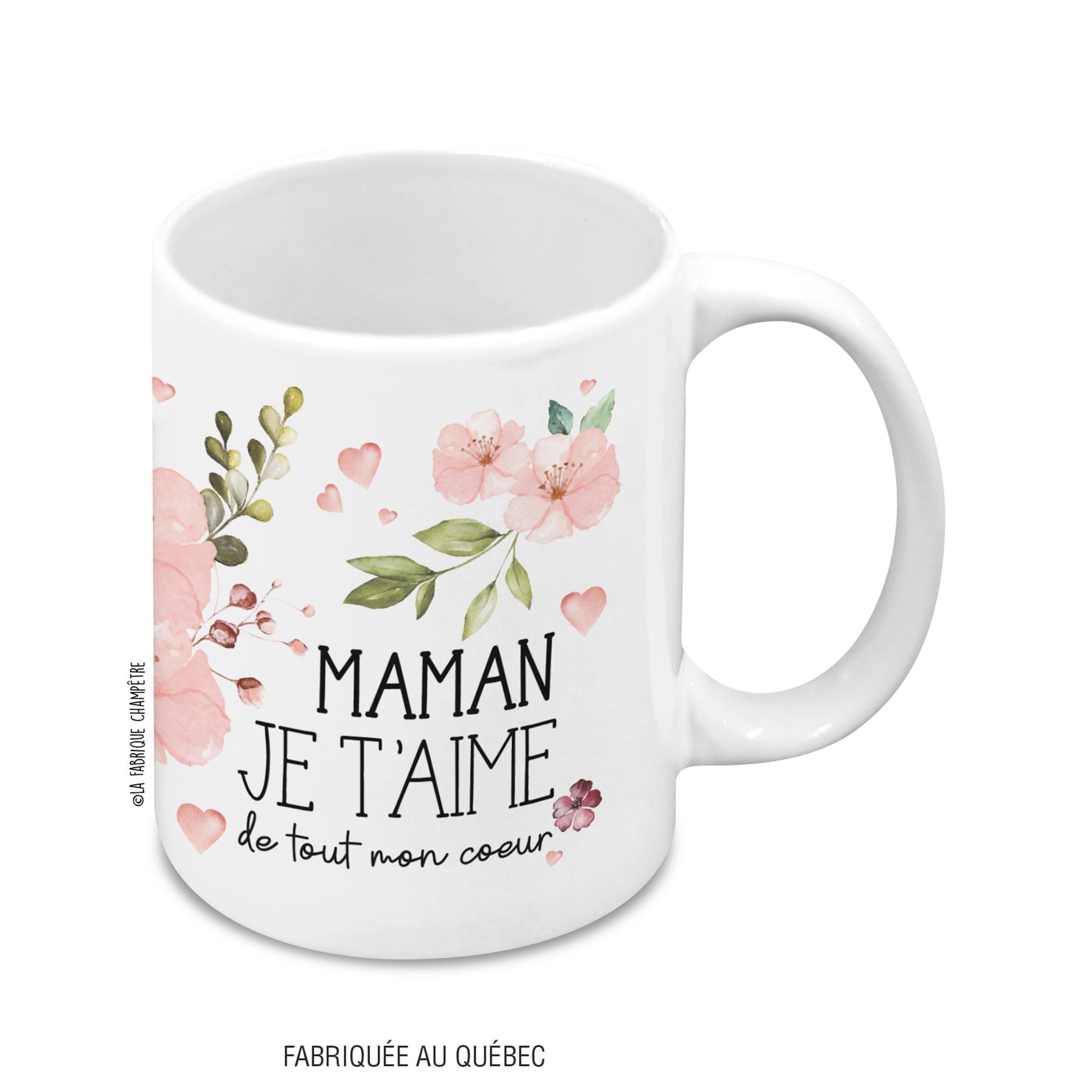 Tasse À Texte - Maman Je T'aime encequiconcerne Texte Maman Je T Aime