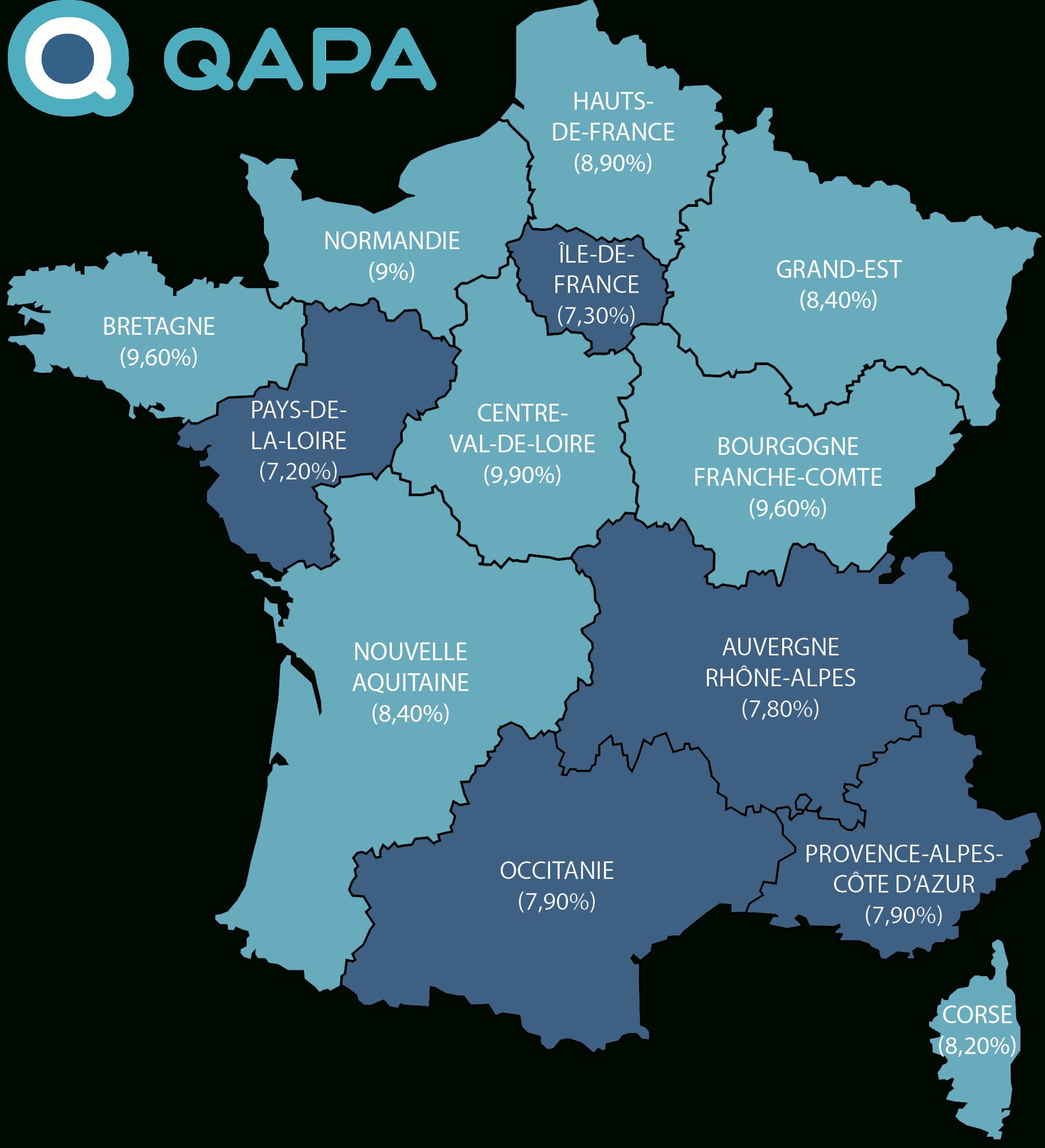 Taux De Chômage Par Région dedans Nouvelle Carte Des Régions De France