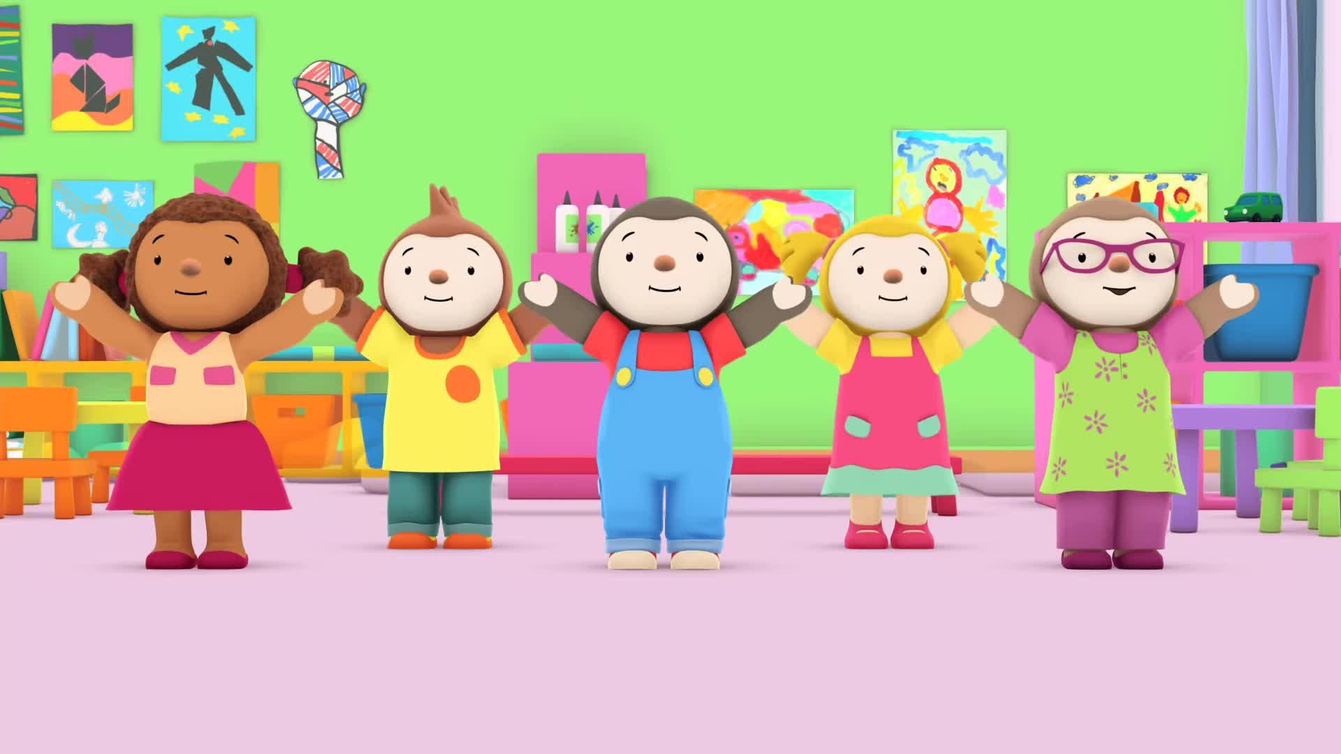 T'choupi À L'école - T'choupi Tout Plat (Ep.7) Gif à Episode Tchoupi