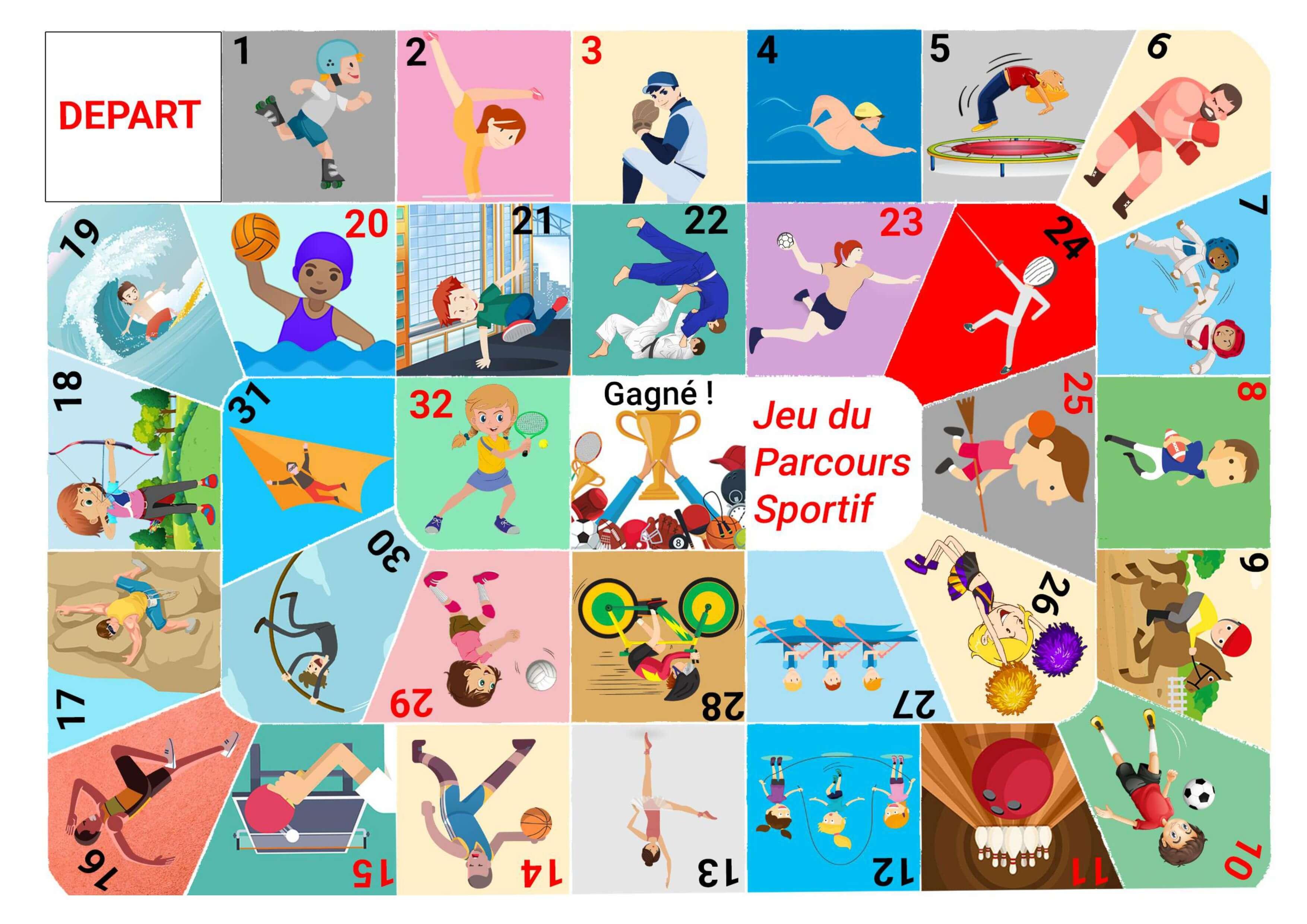 Télécharger] Jeu De Société: Le Parcours Sportif - Tous Au Web destiné Jeux Enfant Gratuit En Ligne
