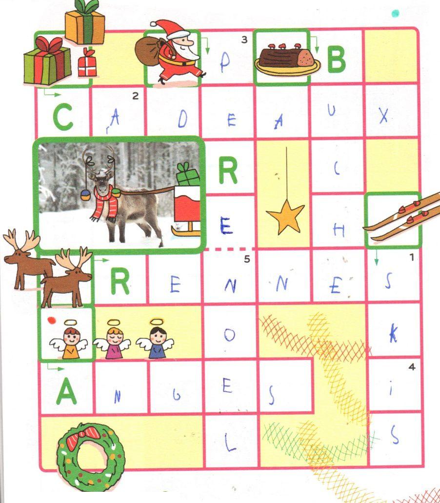 Télécharger Mots Croises De Noel Espagnol De 15 Mots 4Ème tout Mots Croisés Noel