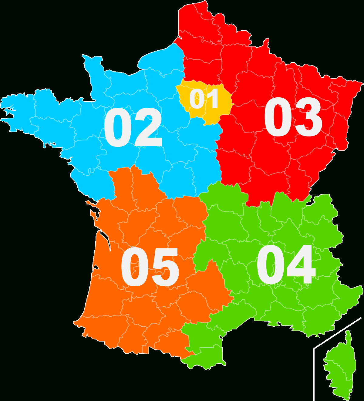 Telephone Numbers In France - Wikipedia serapportantà Carte Numero Departement