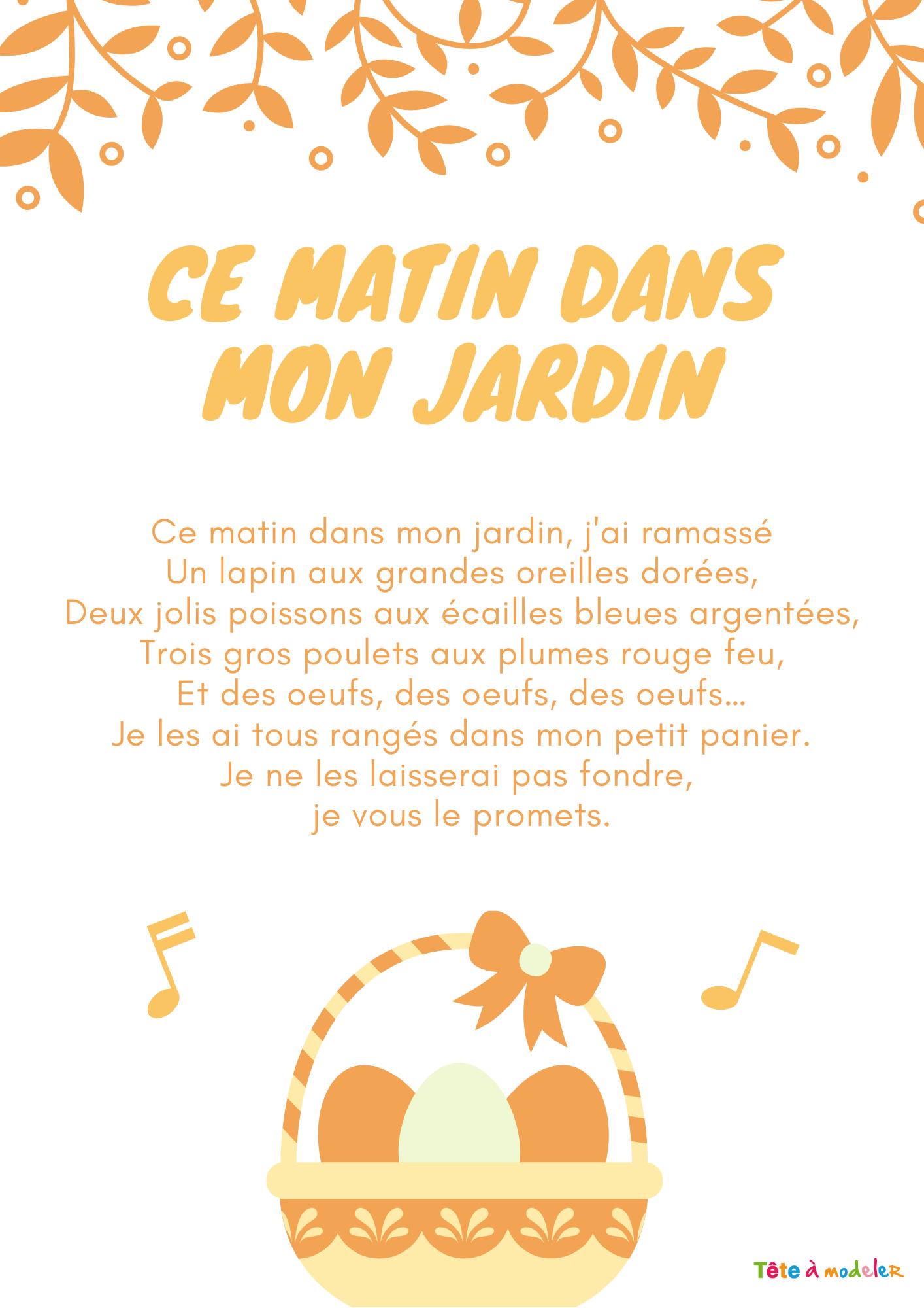 Texte D'une Petite Comptine De Pâques - Tête À Modeler destiné Chanson Enfant Lapin