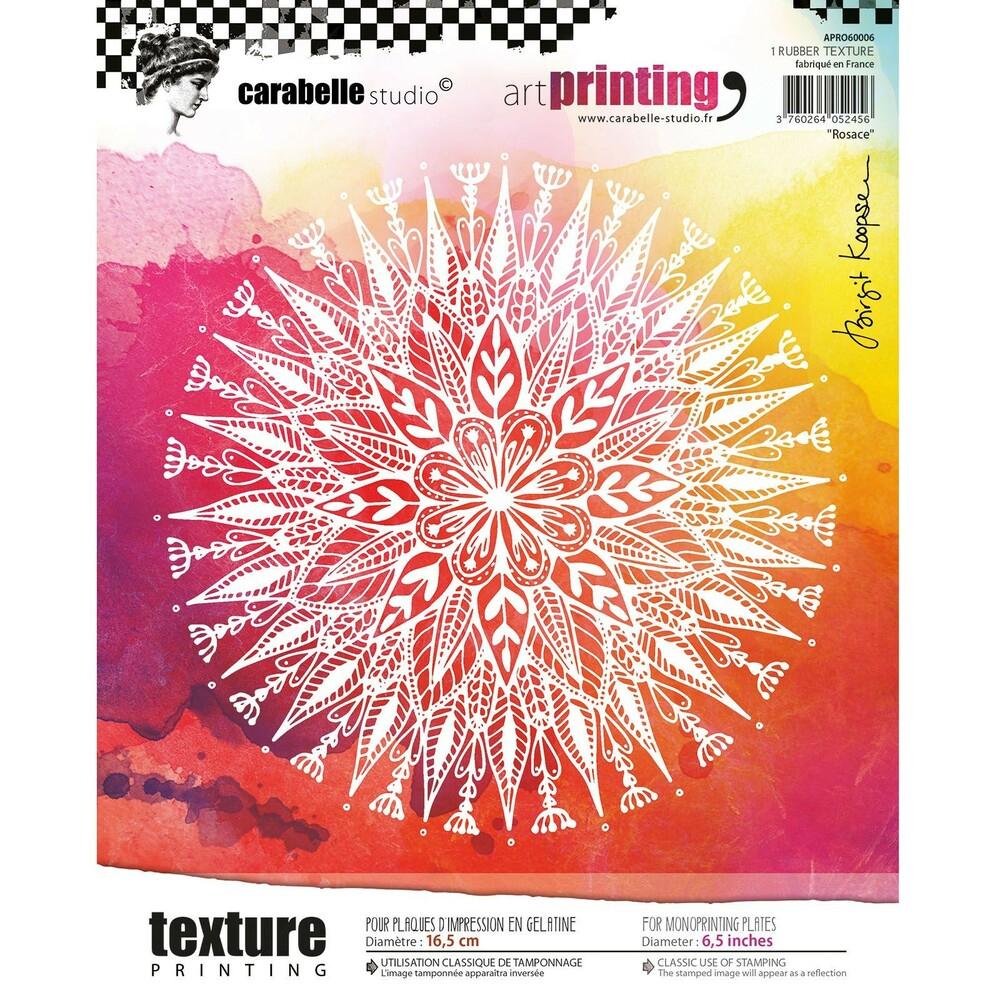 Textur Struktur Matte Rosace 16,5Cm, Carabelle Art Printing à Image De Rosace