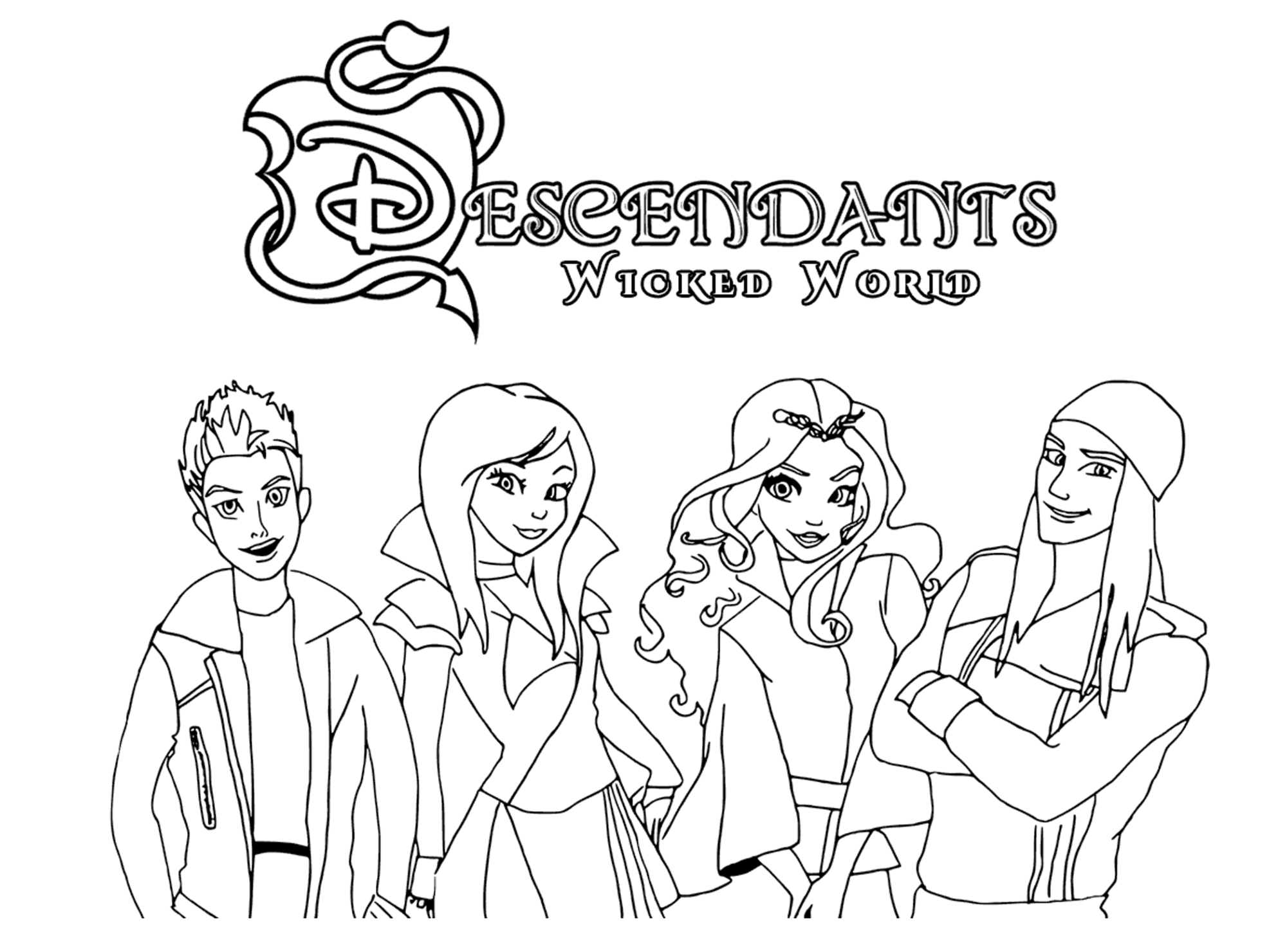 The Descendants Disney - Coloriage The Descendants pour Descendants Personnages