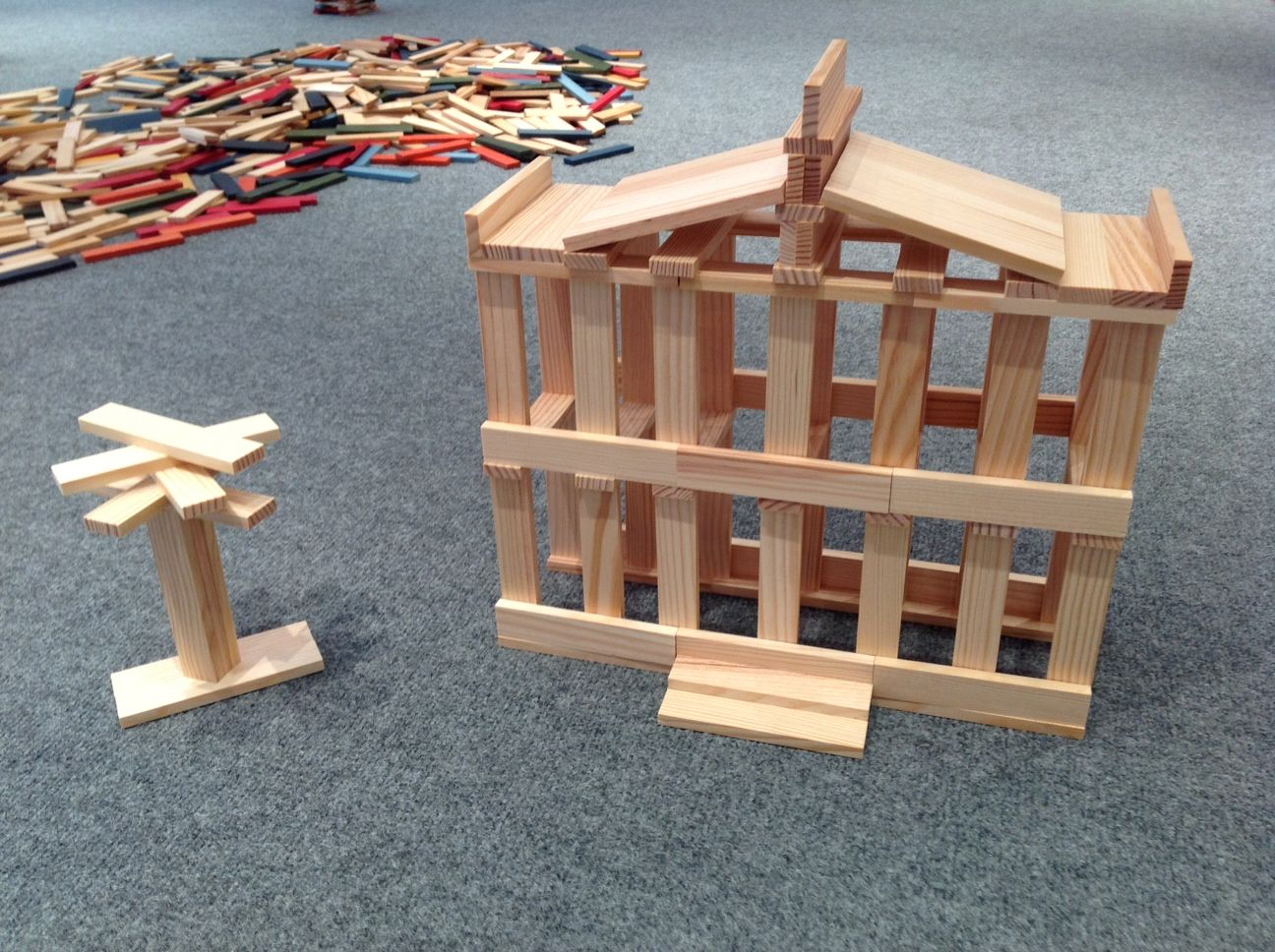 The Famous 100 Block Kapla Mansion. #kids #parents # K12 destiné Construction Facile Kapla