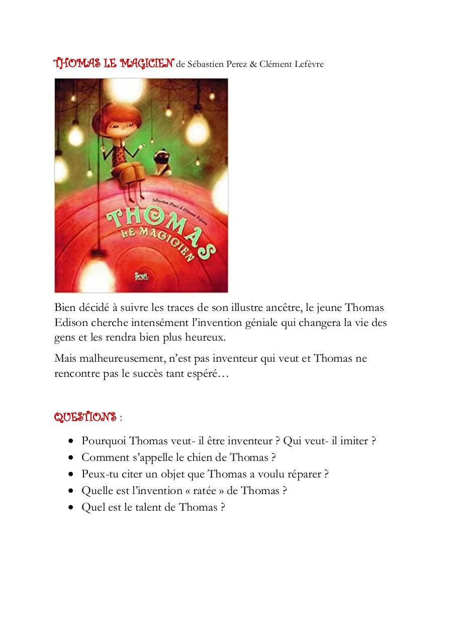 Thomas Le Magicien De Sébastien Perez Par Bibfam - Fichier Pdf tout Coloriage Thomas Le Petit Train