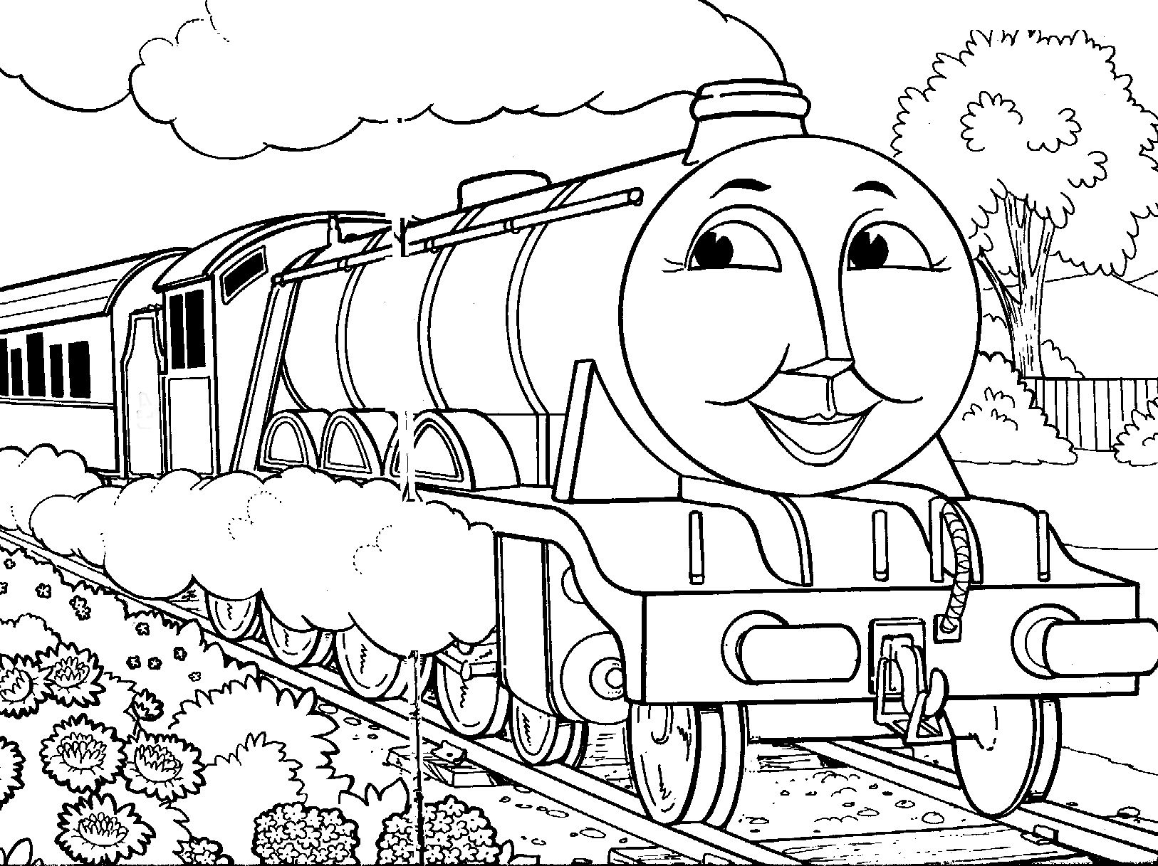 Thomas The Tank Engine Coloring Pages Gordon · Thomas The avec Coloriage Thomas Le Petit Train