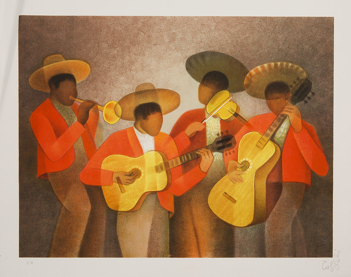 Toffoli Louis (1907-1999) - Musiciens Mexicains destiné Musicien Mexicain