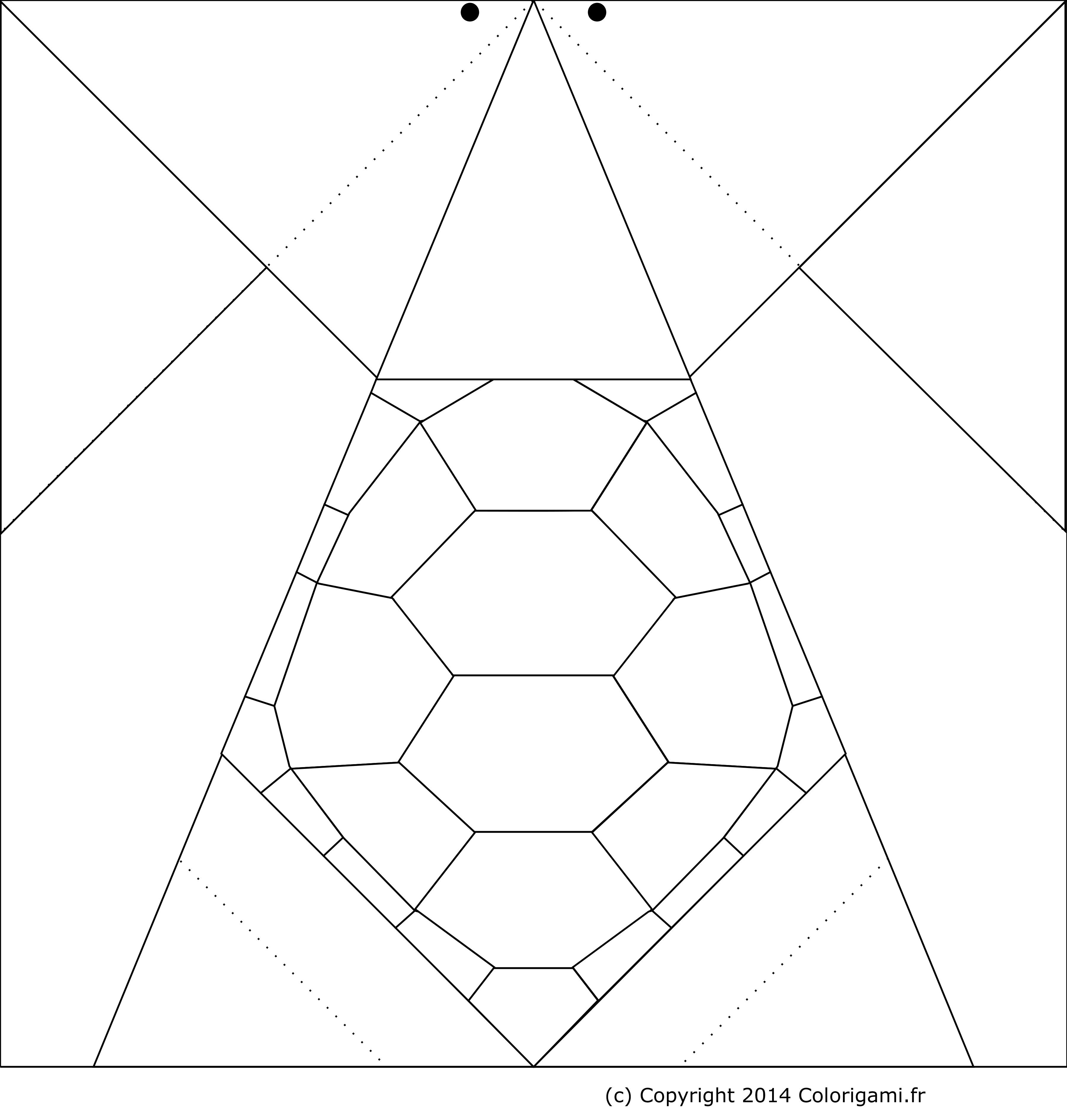 Tortue En Origami encequiconcerne Origami Facile A Faire En Français
