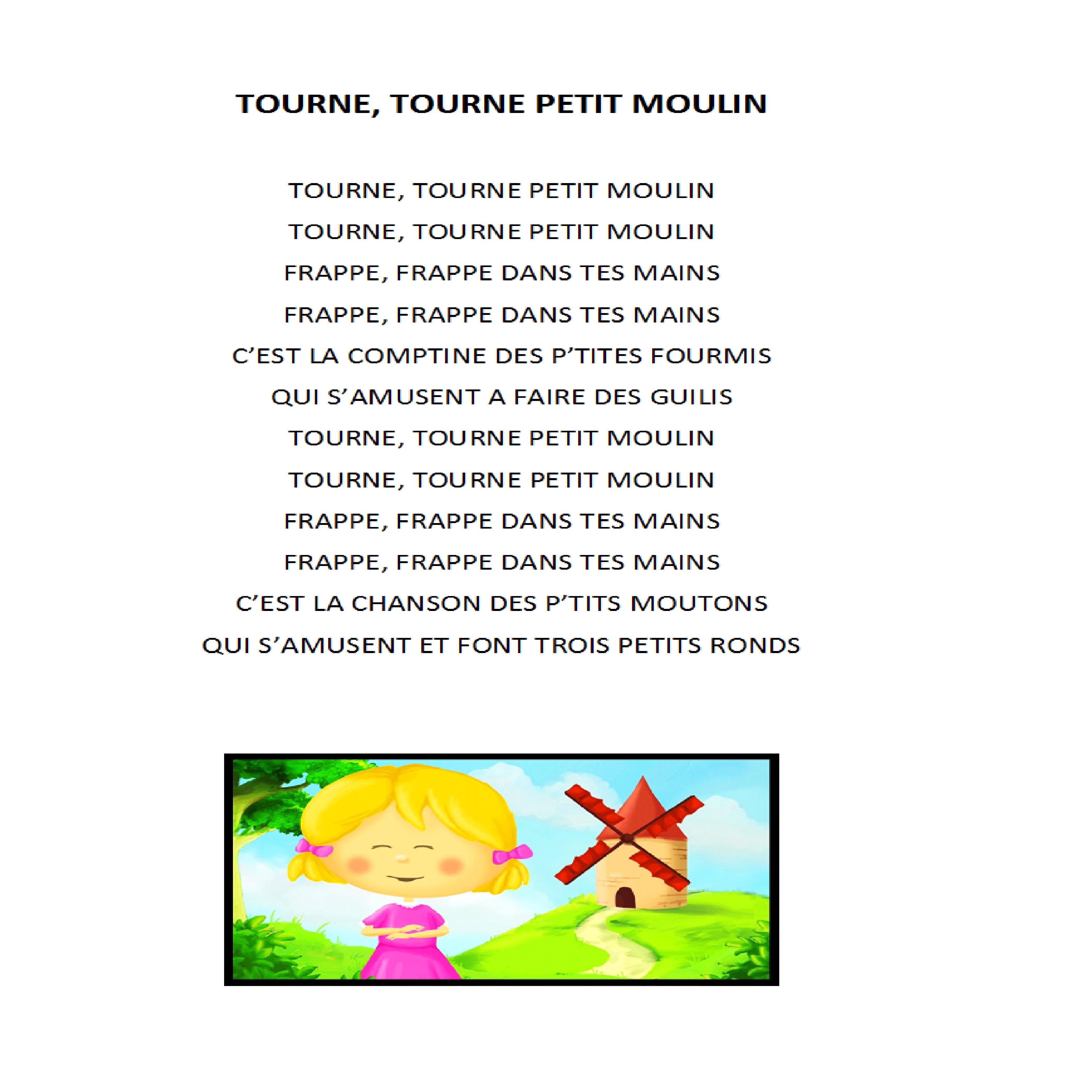"""Tourne Tourne Petit Moulin – """"au Fil De L'eau"""" encequiconcerne Petit Moulin Chanson"""