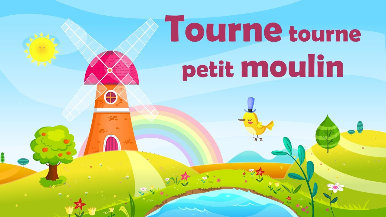 Tourne Tourne Petit Moulin - French Nursery Rhyme For Kids And Babies (With  Lyrics) concernant Petit Moulin Chanson