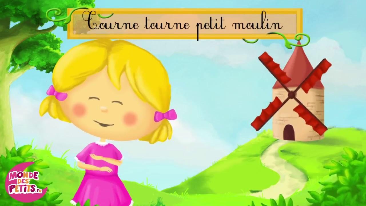 Tourne Tourne Petit Moulin-Le Monde Des Titounis dedans Petit Moulin Chanson