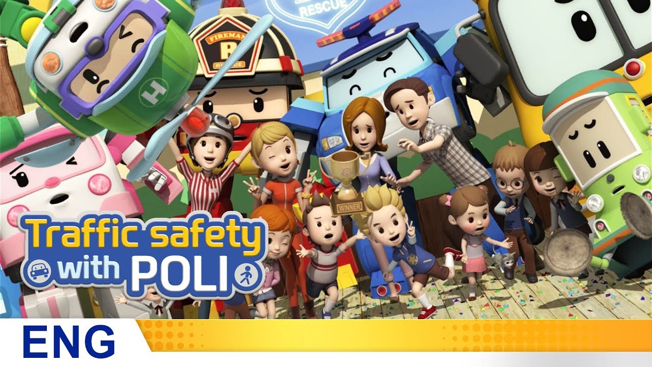 Trafficsafety With Poli | #26.king Of The Traffic Safety Quiz pour Chanson Robocar Poli